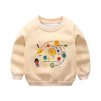 Boy Cartoon Printed Character Sweatshirt Tops, Hoodie Top