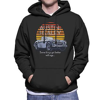 Austin Healey Some Things Get Better With Age British Motor Heritage Men's Hooded Sweatshirt