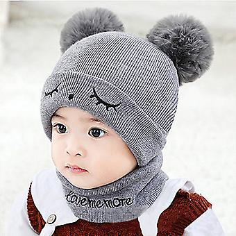 Newborn Baby Warm Hat, Furry Balls Type