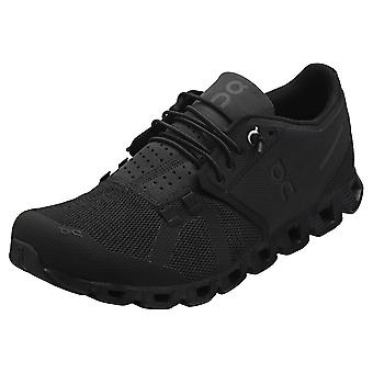 On Running Cloud Mens Running Trainers in Black