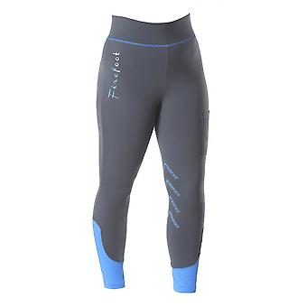 Firefoot Ripon Fleece Lined Childrens Breeches - Charcoal/impact Blue