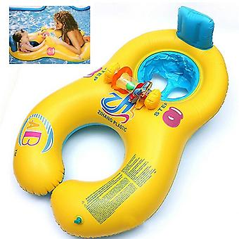 Inflatable Mother Baby Float Circle Ring Toy - Child Beach Swimming Pool