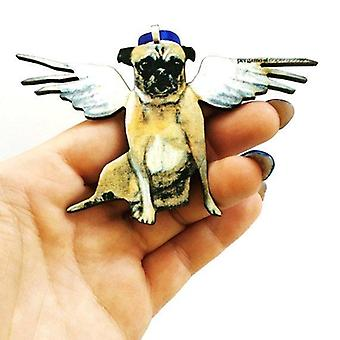 Angel Pug Ornement de Noël
