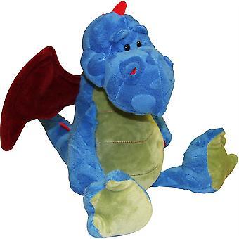 Plyšový drak 8in modrá