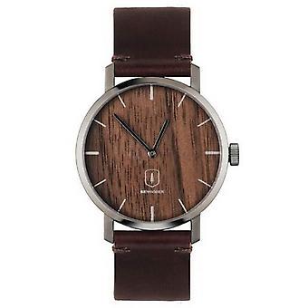 Reloj BeWooden Apis - Marrón/Marrón