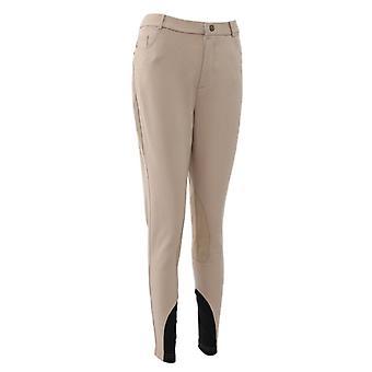 Mens / Womens Anti-slip Eco Leather Knee Patch Horse Riding Jodhpurs Full Pants