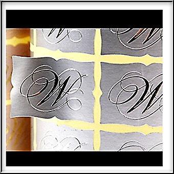 100 Silver Scrolled Edge Wedding Envelope Seals