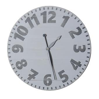 Oversized Gray Industrial Style Wall Clock  30'' X 30''
