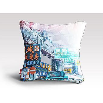 Hongkongin kyltit tyyny / tyyny