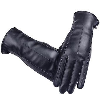 Hoge kwaliteit elegante vrouwen lamsvel lederen handschoenen herfst winter thermisch warm