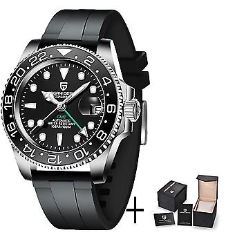 Men Mechanical Wristwatch Stainless Steel Gmt Watch