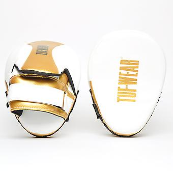 Tuf Wear Victor Curved Hook & Jab Pad White / Gold