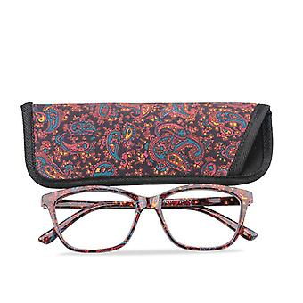 Pocket Printed Reading Glasses With Matching Pouch, Cheap Spring