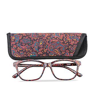 جيب طبع نظارات القراءة مع مطابقة الحقيبة، والربيع رخيصة