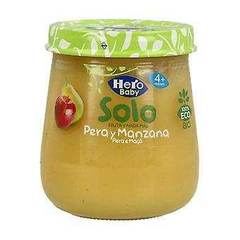 Jar of Pear and Apple Eco Hero Baby Solo 120 g