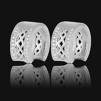 925 Pedras de Earings-cúbicos de Prata Esterlinas