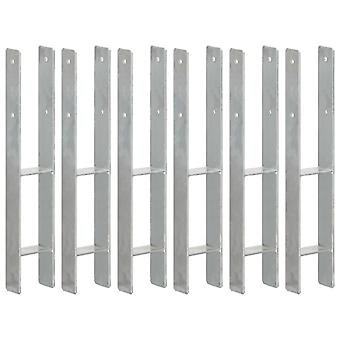Post carrier 6 pcs. silver 9×66×60 cm Galvanized steel