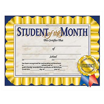 """Student Of The Month Certificate, 8.5"""" X 11"""", Pack Of 30"""