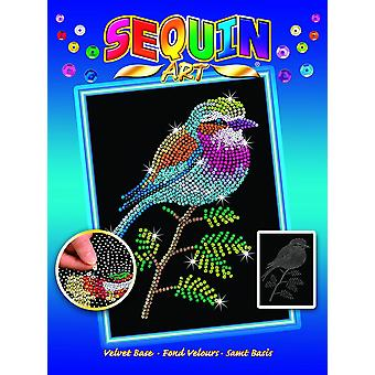 Sequin art 1806 lilac breasted roller design from the blue range 28 x 37 cm