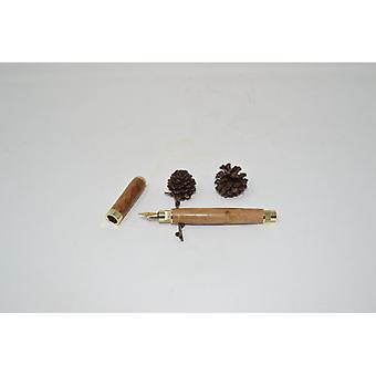 Wood filler pen fountain pen made wooden pen oak plated handmade ballpoint pen gift gift idea unique magnetic cap turned