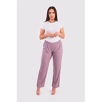 Ferial women's wide-leg trousers in mauve