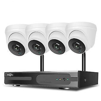 1080p Hd Two-way Audio Cctv Security Camera System Kit For Indoor Home
