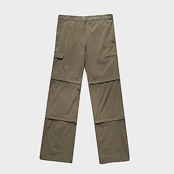 New Peter Storm Women's Stretch Double Zip Off Trousers Regular Khaki