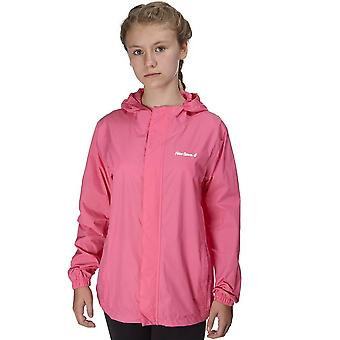 Nieuwe Peter Storm Girl's Hooded packable waterdichte jas roze