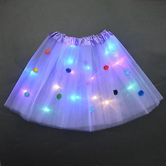 Led Nederdel Glow Butterfly Light Tutu Lysende Party Halloween Festival Bryllup