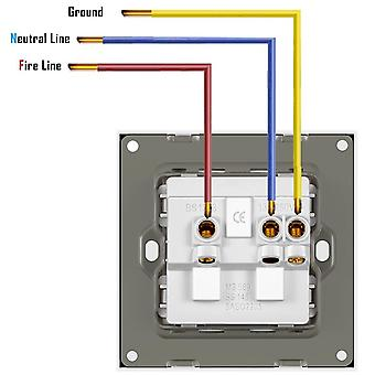 Glass Panel Power Socket With Usb, Uk Standard Wall Switched Socket 13a