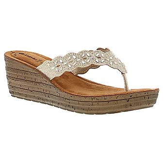 Inblu induct womens ladies wedge sandals  UK Size