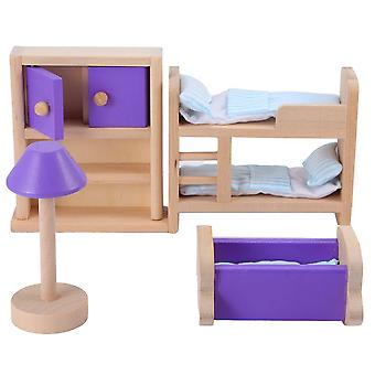 Miniature Dollhouse Wooden Furniture Model Play Toy