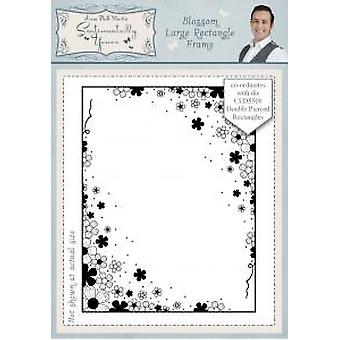 Sentimentally Yours Blossom Large Rectangle Frame Pre Cut Stamp