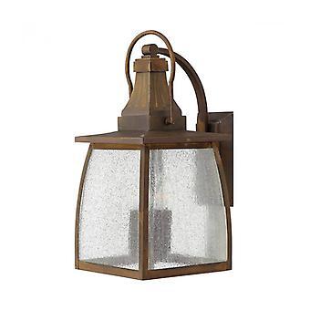 Lámpara De Pared Manhattan, Bronce Y Vidrio, Grande