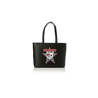 Женская сумка Любовь Moschino Шоппинг Эко-кожа Звезда Черный B21mo152