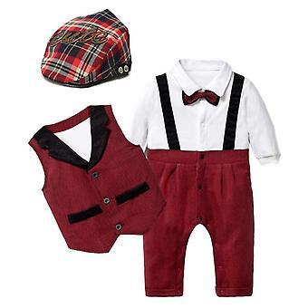 Baby Anzüge, Neugeborene Weste/Romper/Hut formale Kleidung Outfit