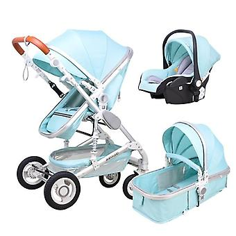 3-in-1 High Landscape, Two-way Carriage, Multifunctional Comfort, Baby Stroller