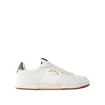 Fred Perry Men's B722 Leather Tennis Shoes Ecru