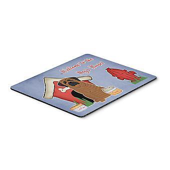 Caroline s Schätze Hund Haus Sammlung Mastiff Brindle Maus Pad, Multicolor, 7.75X9.25 (Bb2769Mp)