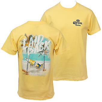 Corona Extra Rento Edessä ja takana Tulosta T-paita