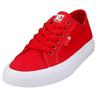DC Shoes Manual Womens Casual Trainers in Red