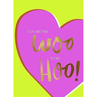 Hallmark Studio Ink - You Are The Woo To My Hoo Card