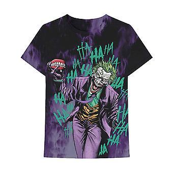 Jokeri T-paita kaikkialla haalistunut uusi virallinen DC Sarjakuvat Miesten Musta