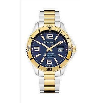 PONTIAC Wristwatch Águas PROFUNDAs masculinas P20091
