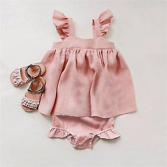Baby Clothes Dress, Sleeveless Summer Shorts Set