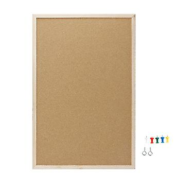 Cork Board Drawing Pine, Wood Frame Boards, Home, Office, Bar Decorative Safe