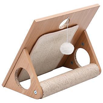 vidaXL macska karc háromszög szisál karc szőnyegekkel 40 cm