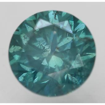 Cert 0,73 karat vihreä sininen SI1 pyöreä brilliant parannettu luonnollinen timantti 5,63mm