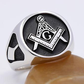 Eingegeben Lehrling Sterling Silber Masonic Ring