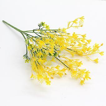 5pcs flor de colza artificial flor seca flor falsa